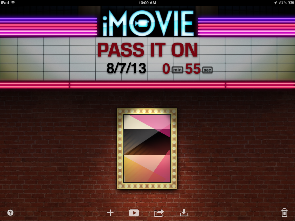iMovie for iPad Marquee